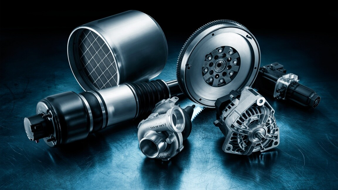 Mercedes-Benz Genuine Remanufactured Parts product portfolio.
